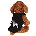 ราคาถูก ของชำร่วยงานแต่งใช้ได้จริง-สุนัข แมว สัตว์เลี้ยง เสื้อกั๊ก Dog Clothes ง่าย คลาสสิก ตัวอักษรและจำนวน สีดำ ผ้าหรูหรา ฝ้าย เครื่องแต่งกาย สำหรับ Dalmatian สุนัขปุยญี่ปุ่น สายสืบ ฤดูใบไม้ผลิ & ฤดูใบไม้ร่วง Female Japan and Korea