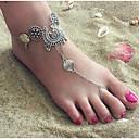 billiga Modehalsband-Dam Barfotasandaler fötter smycken Hängande Blomma Billig damer Enkel Vintage Ankelkedja Smycken Silver Till Party Gåva