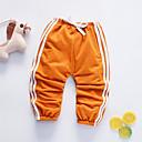 billige BabyGuttbukser-Baby Gutt Aktiv Daglig BLå & Hvit Ensfarget Flettet Kortermet Lin Bukser Oransje