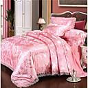 billige Luksuriøse dynetrekk-dynetrekk sett luksus polyster jacquard 4 stk sengetøy sett / 300 / 4pcs (1 dyne deksel, 1 flat ark, 2 shams) king