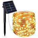 Χαμηλού Κόστους Μαγειρικά Σκεύη Κατασκήνωσης-KWB 4x5M Φώτα σε Κορδόνι 200 LEDs 1 Τοποθετήστε τη βάση στήριξης Θερμό Λευκό / Άσπρο / Μπλε Αδιάβροχη / Ηλιακής Ενέργειας / Διακοσμητικό Încărcare Solară 1set