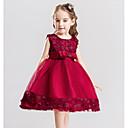 billiga Flickklänningar-Barn Flickor Ljuv Enfärgad Ärmlös Klänning Purpur