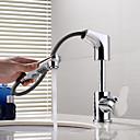 Χαμηλού Κόστους Ράφια & Στγρίγματα-Μπάνιο βρύση νεροχύτη - Αποσπώμενο Σπρέι / Περιστρεφόμενες / Νεό Σχέδιο Χρώμιο Montaj Punte Ενιαία Χειριστείτε μια τρύπαBath Taps / Ορείχαλκος