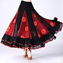 ราคาถูก ชุดเต้นรำลาติน-ชุดเต้นรำโมเดิร์น ด้านล่าง สำหรับผู้หญิง Performance Tulle Scattered Bead Floral Motif Style / กระโปรงระบาย / ข้อต่อ ธรรมชาติ กระโปรง