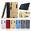 ราคาถูก เคสสำหรับโทรศัพท์มือถือ-Case สำหรับ Sony Sony Xperia XZ with Stand ปกหลัง สีพื้น Hard พีซี