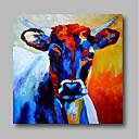 billiga Abstrakta målningar-Hang målad oljemålning HANDMÅLAD - Abstrakt Samtida Moderna Inkludera innerram / Sträckt kanfas