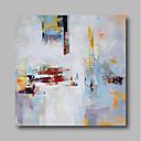 זול ציורי נוף-ציור שמן צבוע-Hang מצויר ביד - מופשט עכשווי מודרני כלול מסגרת פנימית / בד מתוח