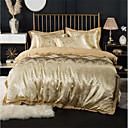 billige Luksuriøse dynetrekk-dynetrekk setter luksuriøse 100% bomull / ultra silkemyk / blandet jacquard 4-delt sengetøy sett (1 dynetrekk, 1 flatt ark, 2 shams)