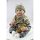 ราคาถูก อุปกรณ์ตุ๊กตา-NPKCOLLECTION ตุ๊กตา NPK Reborn Dolls เด็กผู้ชาย 24 inch ซิลิโคน - ทารกแรกเกิด เหมือนจริง Child Safe Non Toxic เล็บปลอมและเล็บ โทนผิวธรรมชาติ เด็ก เด็กผู้ชาย / เด็กผู้หญิง Toy ของขวัญ