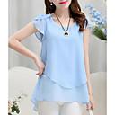 Χαμηλού Κόστους Φορέματα για κορίτσια-Γυναικεία Μπλούζα Εξόδου Μονόχρωμο Βυσσινί