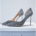 ราคาถูก ชุดเครื่องประดับ-สำหรับผู้หญิง รองเท้าส้นสูง ส้น Stiletto Synthetics ความสะดวกสบาย ฤดูร้อน สีทอง / สีดำ / เงิน / งานแต่งงาน / ทุกวัน