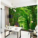 ราคาถูก วอลล์เปเปอร์-แถบสีเขียวออกซิเจนป่าดูกำหนดเอง wallcovering 3D วอลล์เปเปอร์จิตรกรรมฝาผนังที่เหมาะสมสำหรับห้องนอนสำนักงาน