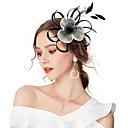 billige Motearmbånd-Dame Kentucky Derby Vintage Elegant Tøy Kubisk Zirkonium Hodeplagg Bryllup Fest / Alle årstider