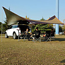 Χαμηλού Κόστους Σκηνές και υπόστεγα-DesertFox® Adăpost Εξωτερική Φορητό Ελαφρύ Αντιηλιακό Μονής επίστρωσης Πόλος Camping Σκηνή 1000-1500 mm για Παραλία Κατασκήνωση / Πεζοπορία / Εξερεύνηση Σπηλαίων Πικνίκ Oxford Πανί PU 560*550*240 cm
