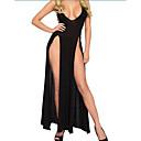 ราคาถูก เครื่องประดับประกอบการเต้นรำ-สำหรับผู้หญิง เปิดหลัง Sexy ชุด เสื้อนอน สีพื้น สีดำ L XL XXL / สาย