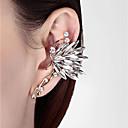 ราคาถูก ตุ้มหู-สำหรับผู้หญิง ข้อแขนหู 3D Butterfly สุภาพสตรี Stylish คลาสสิก พลอยเทียม ต่างหู เครื่องประดับ ขาว / สายรุ้ง สำหรับ ทุกวัน 1pc