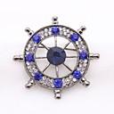 billiga Moderingar-Herr Safir Kubisk Zirkoniumoxid Broscher Skulptur Ankare damer Klassisk Mode Brosch Smycken Guld Silver Till Dagligen