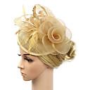povoljno Party pokrivala za glavu-Žene Kentucky Derby Vintage Elegantno Tekstil Kubični Zirconia Šeširi šešir Vjenčanje Party - Jednobojni / Sva doba
