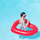 billige Bil-DVR-Heart Shape Oppblåsbare bassengleker PVC Holdbar Oppblåsbar Svømming Vannsport til Voksen 110*90 cm