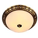 זול פלפונים-QIHengZhaoMing 2 - אור צמודי תקרה Ambient Light Brass מתכת זכוכית 110-120V / 220-240V לבן חם / לבן נורה כלולה