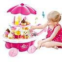 billiga Leksakskök och -mat-Toy köksutrustning Låtsaslek Glass Sweet Candy Shop Plastskal Förskola Leksaker Present 39 pcs