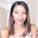 ราคาถูก วิกผมจริง-ผมเวอร์จิน ลูกไม้หน้าไม่มีกาว มีลูกไม้ด้านหน้า วิก บ๊อบตัดผม หน้าม้าตรง Rihanna สไตล์ ผมบราซิล Straight Yaki Ombre วิก 130% Hair Density ผมเด็ก ผม Ombre เส้นผมธรรมชาติ วิกผมแอฟริกันอเมริกัน 100