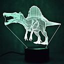 Χαμηλού Κόστους 3D φώτα τη νύχτα-1set 3D Nightlight Αλλαγή USB Αισθητήρας αφής / Αλλάζει Χρώμα / Με θύρα USB