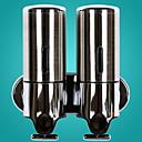 Χαμηλού Κόστους Θήκη Βούρτσας Τουαλέτας-διπλής κεφαλής σαπούνι διανομέας από ανοξείδωτο χάλυβα σαπούνι χέρι σαπούνι / λουτρό υγρό κουτί τοίχο-τοποθετημένο για το μπάνιο σαμπουάν gel τζάκι ντους