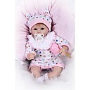 billige Reborn-dukker-NPKCOLLECTION NPK DOLL Reborn-dukker Girl Doll Babyjenter 18 tommers Newborn Gave Kunstig Implantation Brown Eyes Barne Jente Leketøy Gave