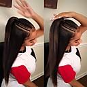 povoljno Perike s ljudskom kosom-Remy kosa Lace Front Perika stil Brazilska kosa Ravan kroj Natural Perika 130% Gustoća kose s dječjom kosom novi Prirodna linija za kosu neprerađenih Izbijeljeni čvorovi Žene Kratko Perike s ljudskom