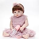 ราคาถูก วิกผมลูกไม้สังเคราะห์-FeelWind Reborn Dolls ตุ๊กตาสาว เด็กผู้หญิง 22 inch ซิลิโคนร่างกายเต็มรูปแบบ - เหมือนจริง ทำด้วยมือ Child Safe Non Toxic ปฏิสัมพันธ์ระหว่างพ่อแม่และลูก มือ Rooted Mohair เด็ก เด็กผู้หญิง Toy ของขวัญ