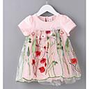 Χαμηλού Κόστους Σετ ρούχων για κορίτσια-Μωρό Κοριτσίστικα Βασικό Φλοράλ Κοντομάνικο Βαμβάκι Φόρεμα Λευκό / Νήπιο