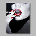 povoljno Slike ljudi-Hang oslikana uljanim bojama Ručno oslikana - Ljudi Comtemporary Moderna Uključi Unutarnji okvir / Prošireni platno