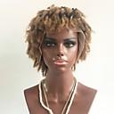 povoljno Perike s ljudskom kosom-Remy kosa Lace Front Perika Stepenasta frizura Beyonce stil Brazilska kosa Kovrčav Plavuša Perika 130% Gustoća kose s dječjom kosom Ombre Afro-američka perika Žene Kratko Perike s ljudskom kosom Aili