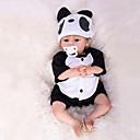billiga Reborn-dockor-Reborn-dockor Babypojkar 18 tum Silikon - Nyfödd levande Handgjord Barnsäkert Ogiftig Handrotad mohair Unge Pojkar / Flickor Leksaker Present / Konstgjord implantering Brown Eyes