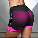 ราคาถูก ชุดออกกำลังกายและชุดโยคะ-สำหรับผู้หญิง With Inner Shorts Yoga Shorts กีฬา ตารางไขว้ ด้านล่าง Zumba Pilates วิ่ง ชุดทำงาน Lightweight แห้งเร็ว Butt Lift ยืด เพรียวบาง