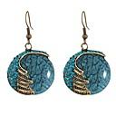 ราคาถูก สร้อยข้อมือ-สำหรับผู้หญิง Drop Earrings โบฮีเมียน ชาติพันธุ์ ต่างหู เครื่องประดับ แดง / ฟ้า สำหรับ งานราตรี Street