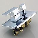 povoljno Slavine za tuš-Slavina za tuš - Suvremena Chrome Zidne slavine Keramičke ventila Bath Shower Mixer Taps / Brass / Jedan Ručka jedna rupa