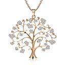 Χαμηλού Κόστους Μοδάτο Δαχτυλίδι-Γυναικεία Κολιέ Δήλωση Σχοινί Δέντρο της ζωής δέντρο ζωής κυρίες Στυλάτο Κρεμαστό Γλυκιά Λολίτα Στρας Κράμα Χρυσό Ασημί Χρυσό Τριανταφυλλί 75 cm Κολιέ Κοσμήματα 1pc Για