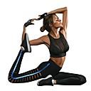 billige Motering-Dame Utskjæring Yogabukser Stribe Zumba Løp Dans Tights Leggings Sportsklær Pustende Anatomisk design Myk Elastisk