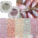 billiga Dekaler-22pcs Konstgjorda nageltips Glitter Till Moderiktig design nagel konst manikyr Pedikyr Retro Bröllopsfest / Dagliga kläder
