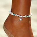 ราคาถูก ผ้าม่าน-สำหรับผู้หญิง Turquoise สร้อยข้อเท้า สร้อยข้อมือข้อเท้า เครื่องประดับเท้า ลูกปัด Yoga ปลาดาว เปลือกหอย สุภาพสตรี โบฮีเมียน บีกีนี่ แฟชั่น สร้อยข้อเท้า เครื่องประดับ สีเงิน สำหรับ ของขวัญ ฮอลิเดย์