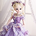 Χαμηλού Κόστους Απλίκες Τοίχου-Doris Κορίτσι κορίτσι Κουκλαρισμένη κούκλα Blythe Doll Μωρά Κορίτσια 24 inch Σιλικόνη πλήρους σώματος - Χαριτωμένο Πανέμορφος Ανθεκτικές στις υψηλές θερμοκρασίες περούκες από ίνες Παιδικά Κοριτσίστικα