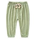 ราคาถูก เซ็นเซอร์ตรวจจับความเคลื่อนไหว-เด็ก เด็กผู้หญิง พื้นฐาน ทุกวัน สีพื้น รองเท้าผูกเชือก ฝ้าย กางเกงขายาว สีเขียวอ่อน
