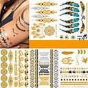 billiga Temporära tatueringar-5 pcs Tatueringsklistermärken tillfälliga tatueringar Mode Punk Body art Kropp / arm / Tattoo Sticker