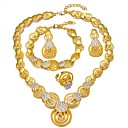 Χαμηλού Κόστους Σετ Κοσμημάτων-Γυναικεία Βραχιόλια Κρεμαστά Σκουλαρίκια Κρεμαστά Κολιέ Πολυεπίπεδο κυρίες Etnic αφρικανός 18Κ Επίχρυσο Σκουλαρίκια Κοσμήματα Χρυσό Για Αρραβώνας Βαλεντίνος / Δαχτυλίδι