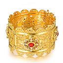 ราคาถูก ตุ้มหู-สำหรับผู้หญิง กำไล สร้อยข้อมือข้อมือ Sculpture สุภาพสตรี ชาติพันธุ์ อิตาเลียน ทองชุบ สร้อยข้อมือเครื่องประดับ สีทอง สำหรับ ปาร์ตี้ ของขวัญ