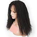 Χαμηλού Κόστους Εξτένσιος μαλλιών με φυσικό χρώμα-Remy Τρίχα Πλήρης Δαντέλα Περούκα στυλ Βραζιλιάνικη Σγουρά Περούκα 150% Πυκνότητα μαλλιών με τα μαλλιά μωρών Φυσική γραμμή των μαλλιών Λευκανθέντες κόμπους Γυναικεία Μακρύ Περούκες από Ανθρώπινη Τρίχα