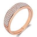 ราคาถูก แหวน-สำหรับผู้หญิง แหวน แหวนครึ่งนิ้ว 1pc สีเงิน Rose Gold ทองเหลือง Platinum Plated เคลือบทองคำสีกุหลาบ สุภาพสตรี ง่าย อติพจน์ งานแต่งงาน ของขวัญ เครื่องประดับ สไตล์ Star ยิปโซ เท่ห์ / เลียนแบบเพชร