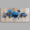 Χαμηλού Κόστους Πίνακες με Λουλούδια/Φυτά-Hang-ζωγραφισμένα ελαιογραφία Ζωγραφισμένα στο χέρι - Αφηρημένο Άνθινο / Βοτανικό Μοντέρνα Χωρίς Εσωτερικό Πλαίσιο / Κυλινδρικός καμβάς